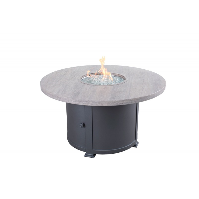 Faux Wood Fire Table