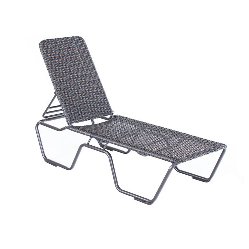 Kabana Woven Roasted Pecan Stacking Chaise Lounge
