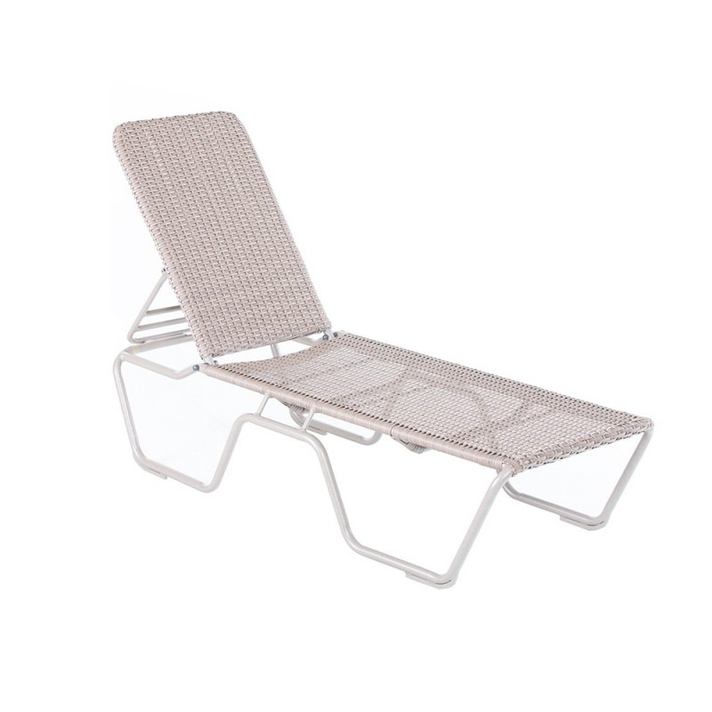 Kabana Woven Dover Clay Stacking Chaise Lounge