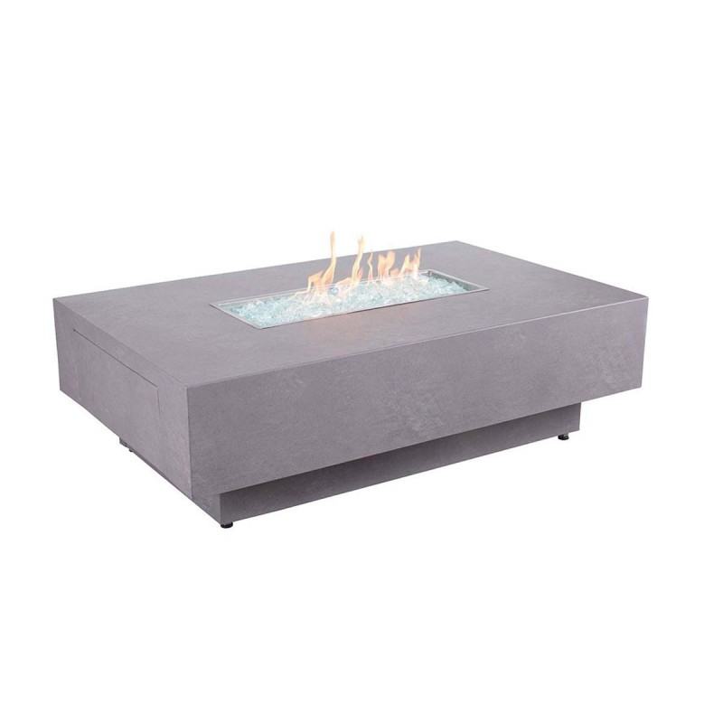 Faux Concrete Rect Fire Table
