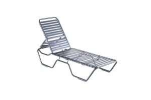 Kabana Strap Black Stacking Chaise Lounge