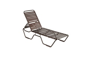 Kabana Strap Brown Stacking Chaise Lounge