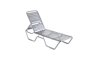 Kabana Strap Grey Stacking Chaise Lounge