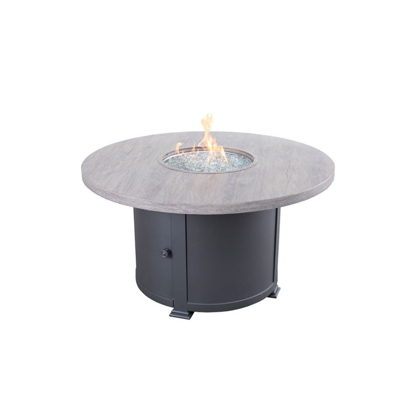 Faux Wood Rd Fire Table